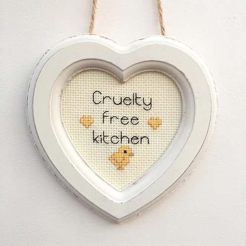 Cruelty Free Kitchen Chick Heart Stitch