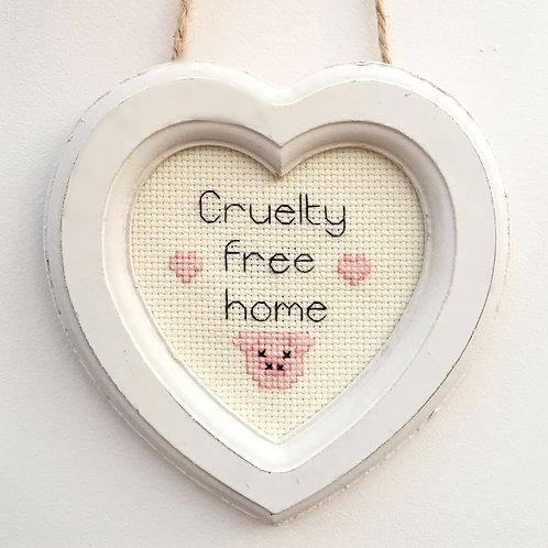 Cruelty Free Home Pig Heart Stitch
