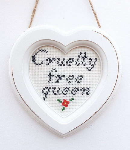 Cruelty Free Queen Heart Stitch