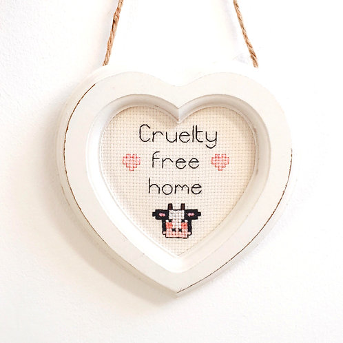 Cruelty Free Home Cow Heart Stitch