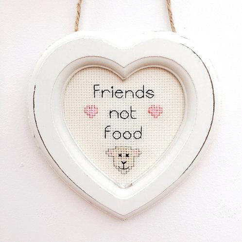 Friends Not Food Lamb Heart Stitch