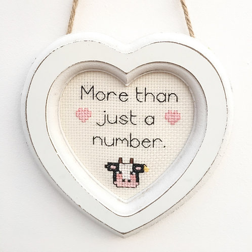 More Than A Number Cow Stitch