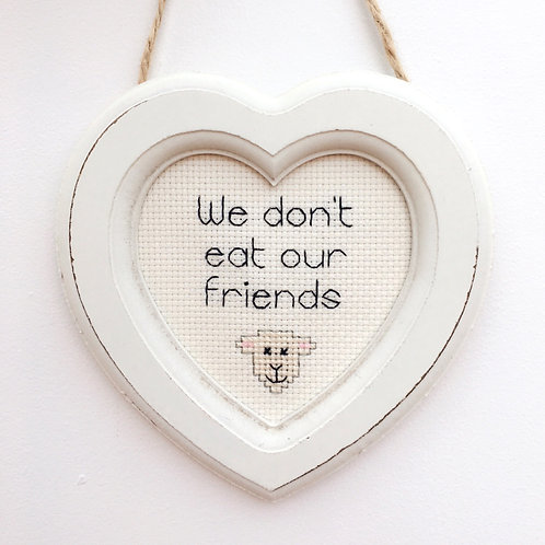 We Don't Eat Our Friends Lamb Heart Stitch