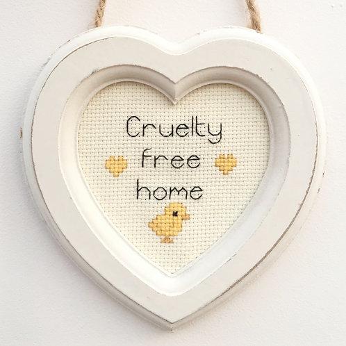 Cruelty Free Home Chick Heart Stitch
