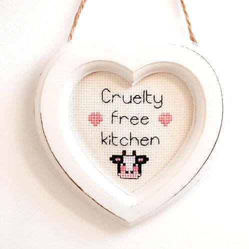 Cruelty Free Kitchen Cow Heart Stitch