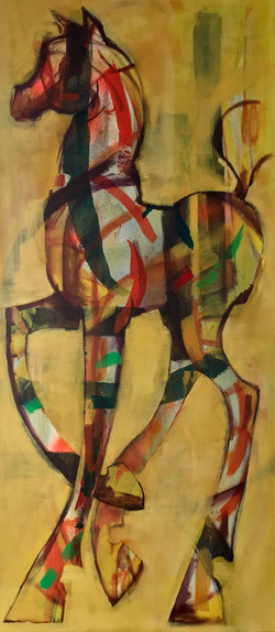 Geel paardje