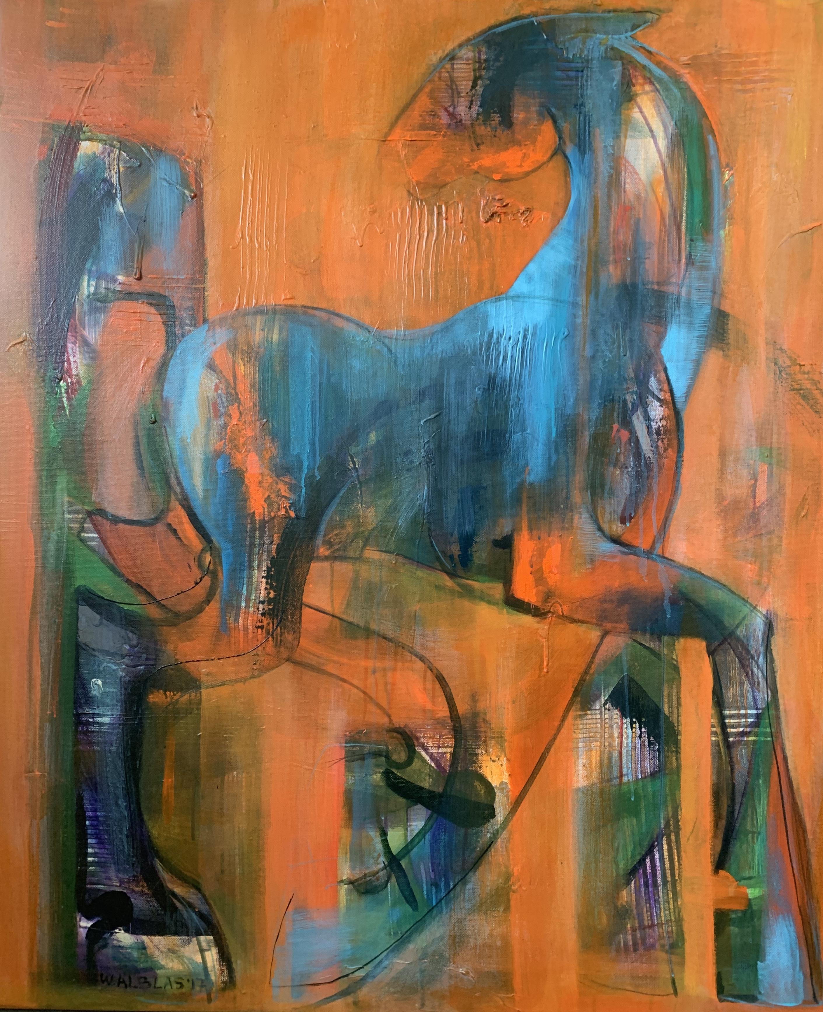 Orange horse