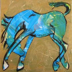 paardje blauw
