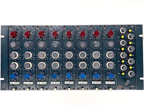 (8) BAE 1073 Preamp Modules in a BAE 8CR 10 Series Rack