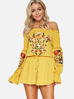 ZEZCLO off the shoulder rompers