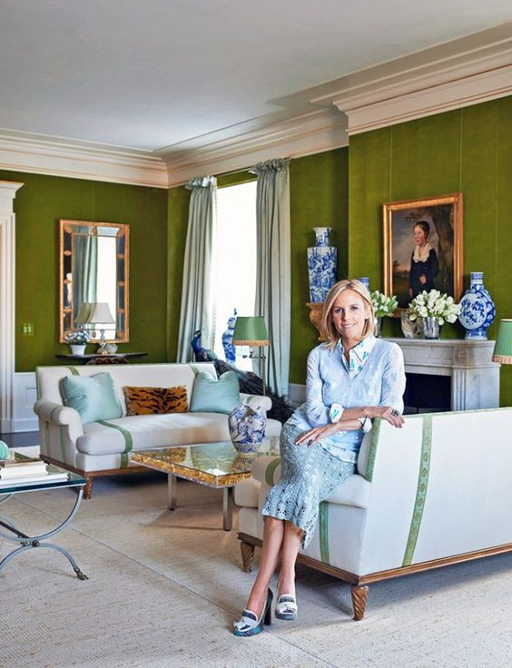 Tory Burch in her much photographed apartment