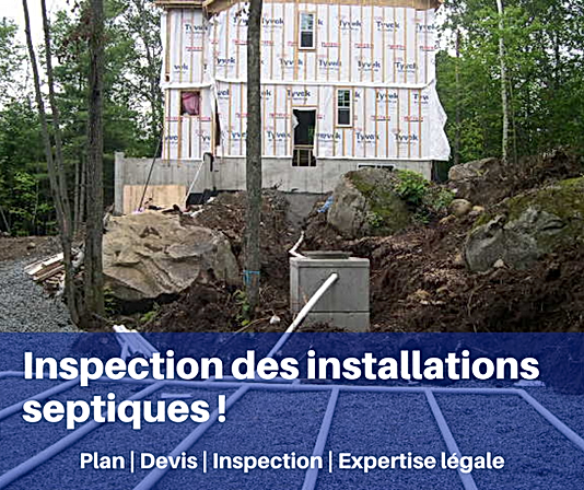 Inspection des installation septiques !.
