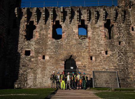 Rebuilding History- Conwy Castle, Rope Access