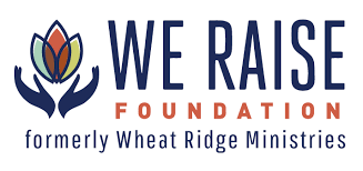 Colorful logo for We Raise Foundation