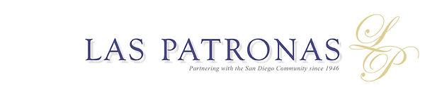 Purple, grey and gold Las Patronas logo