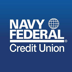 Blue and white Navy Federal Credit Union logo