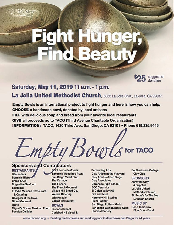 Image of empty bowls for 2019 event