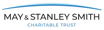 Black, white and blue May and Stanley Smith Charitable Trust logo