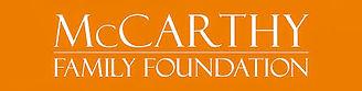 Orange and white McCarthy Family Foundation logo