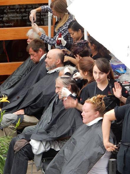 TACO guests receiving haircuts