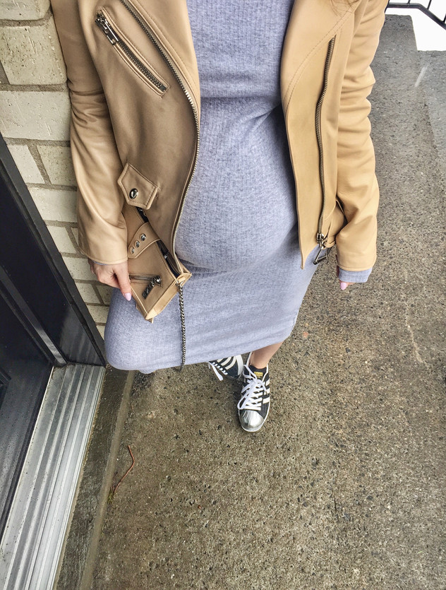 SPRING TRANSITION: Nude Leather Jacket