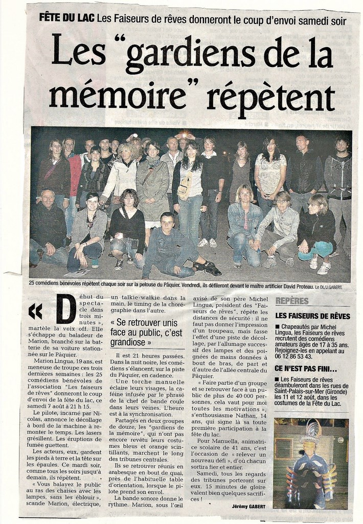 atelier faiseurs de reves Annecy presse FDL 2010