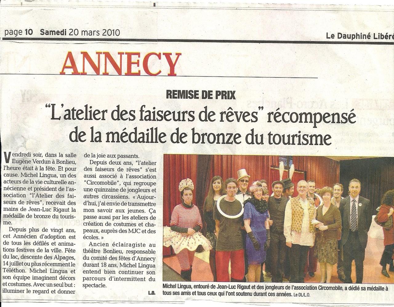 médaille_du_tourisme_faiseur_de_reve_annecy
