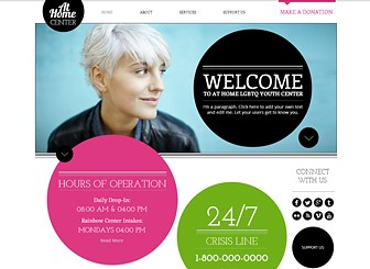 Youth center website template wix pronofoot35fo Gallery