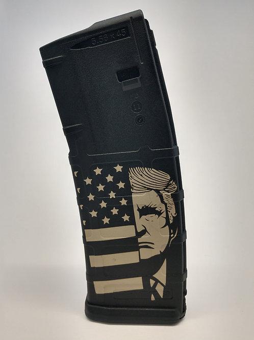 Laser Engraved P-Mag American Trump