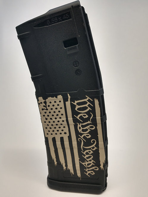 Laser Engraved P-Mag We The People