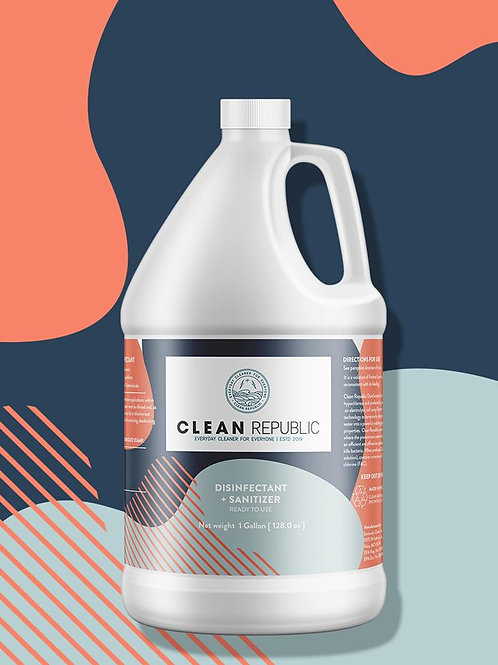 Clean Republic Disinfectant +Sanitizer  500 PPM (1 gallon)