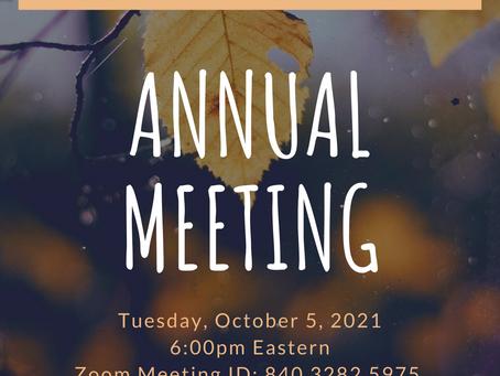 Annual Meeting Notice!