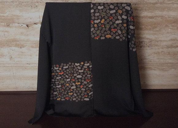 蕾散らし 黒絵羽織