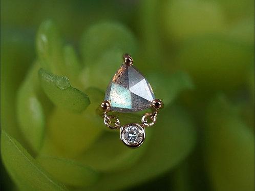 Modern Mood Labradorite Diamond Trillion