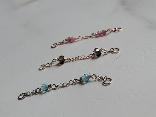 Beaded Stone Gold Chains