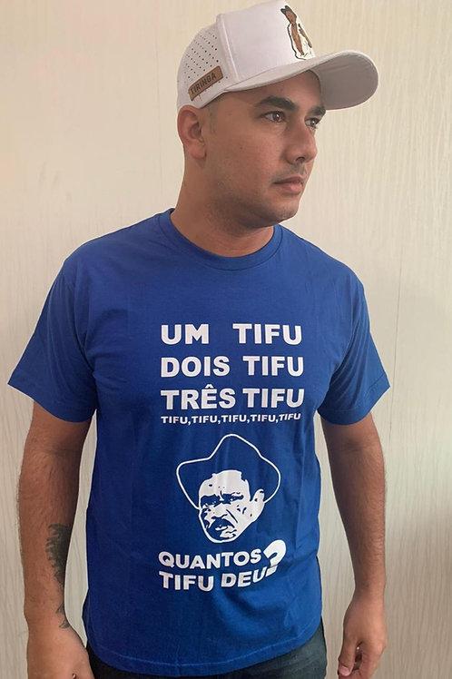 "Camisa azul - ""Quantos tifu Deu?"""
