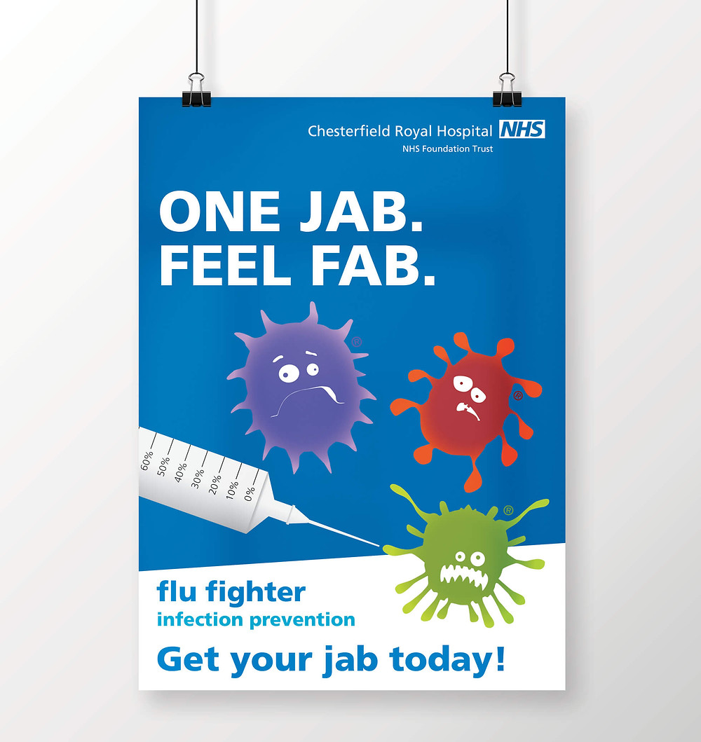 One Jab. Feel Fab Poster