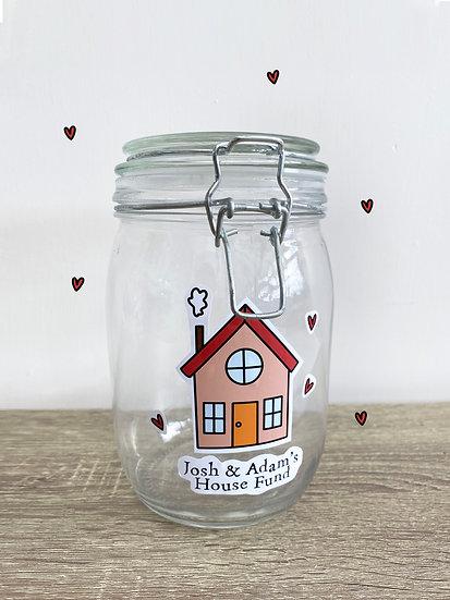 House Fund Savings Jar