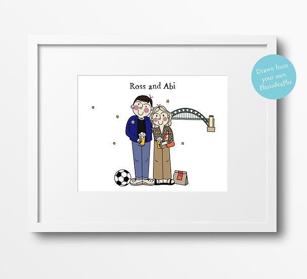 Custom Couple Portrait Illustration