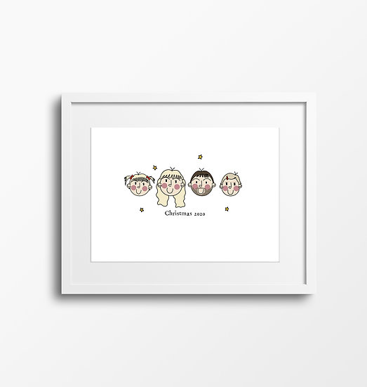 Family Faces Illustration