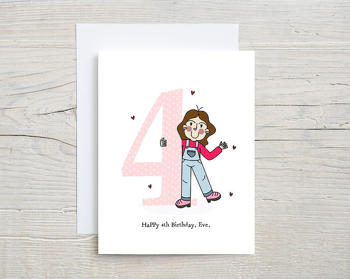 Custom Children's Number Birthday Card