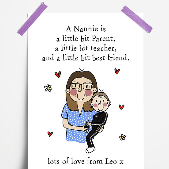 Custom 'A Grandparent is...' Quote Illustration