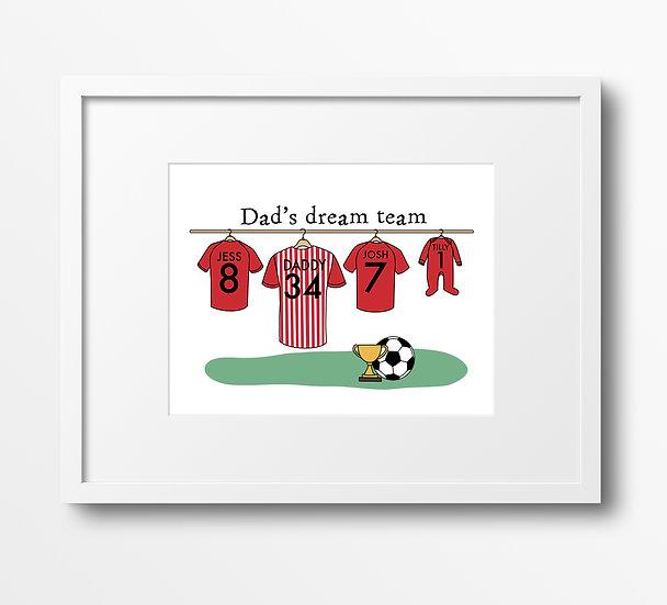 Custom Football Shirt Print