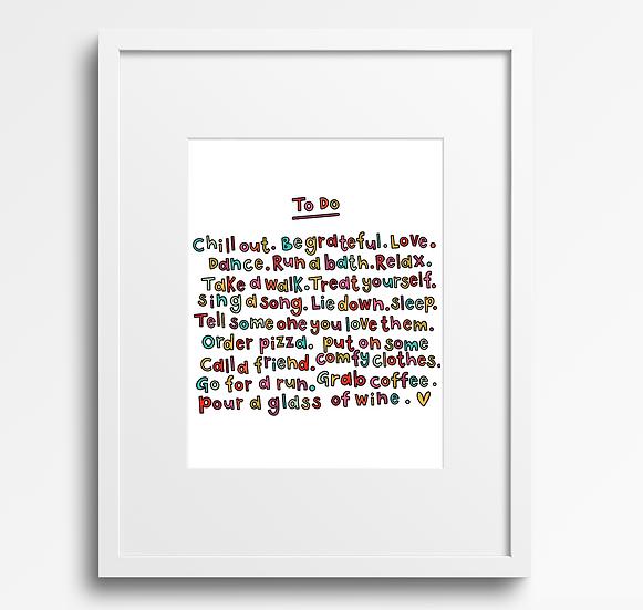 'To Do' Print