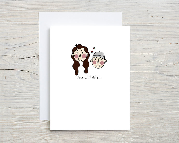 Custom Illustrated A5 Greeting Card