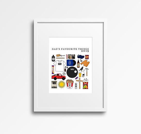 Custom Favourite Things Print