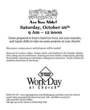 October 26th - Members at work