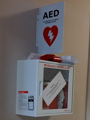 We have an AED