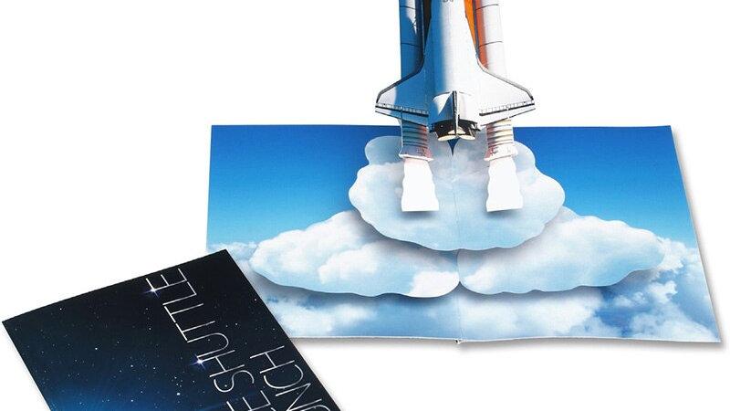 Pop-Up Space Shuttle Card
