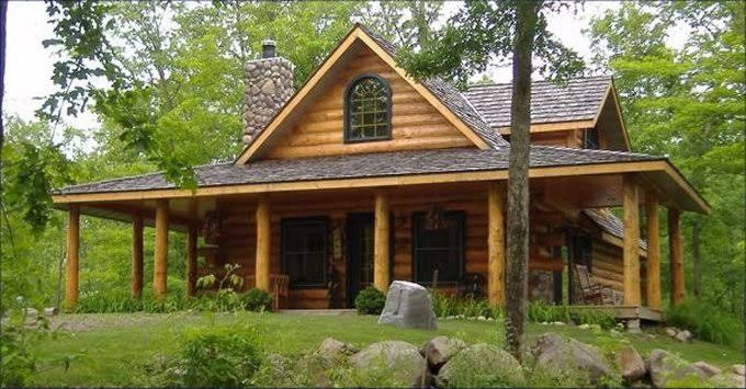 The chill of a log cabin.